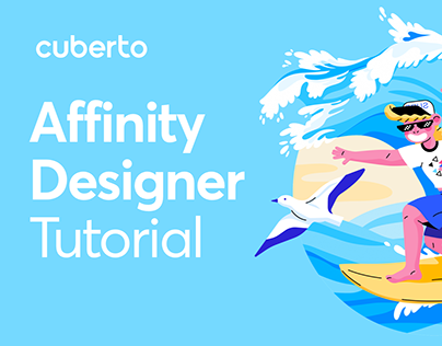 Drawing a surfer in Affinity Designer using iPad Pro