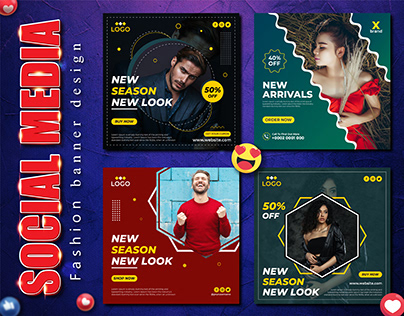 Fashion sale web banner or social media post