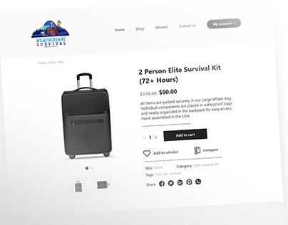 WeatherVane Survival - Product page - UI