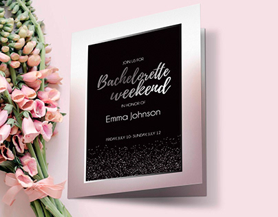 Bachelorette weekend invitation card
