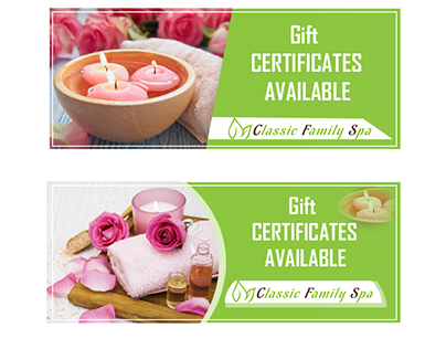 Advertisment Spa Gift Certificates