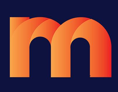 M Modern Letter Logo Mark