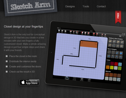 Sketch Arm Landing Page