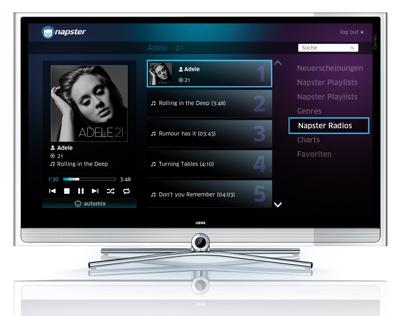 Napster TV Interface für LOEWE