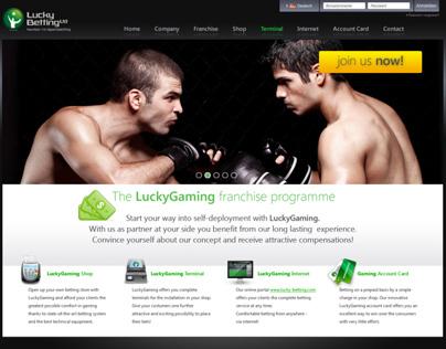 Webseite Entwürfe für Lucky Betting