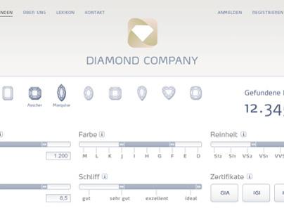 Webseite für einen Diamanten-Händler (Entwürfe)