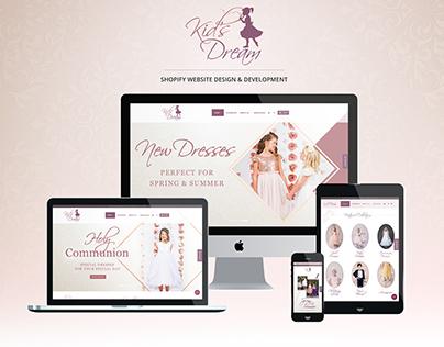 Kid's Dream Website Design - Spring 2018