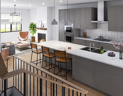 Interior renderings of the townhouse in the USA