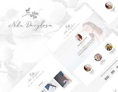 Design for photographer's portfolio