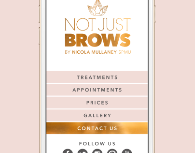 NOT JUST BROWS Branding and Rollout