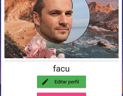 Flutter application similar to twitter or facebook