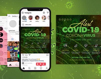 Covid-19 Flyer & Social Media Post Templates
