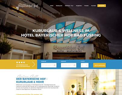 Redesign Website // Hotel Website // Bayer. Hof