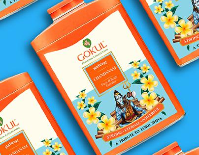 Gokul Santol Talcum Powder packaging