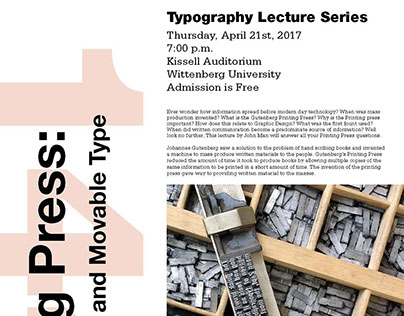 Topography Lecture Series Poster