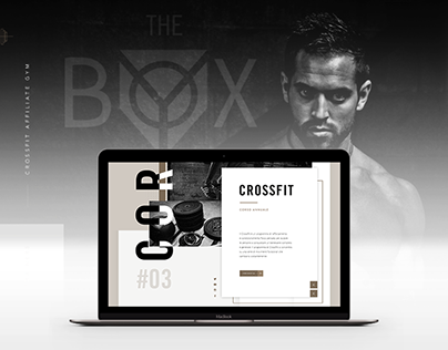 The BOX - CrossFit Gym One Page Website Redesign
