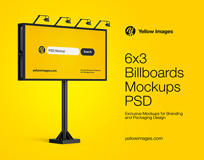 3 Billboards PSD Mockups