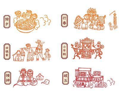 資訊設計--台灣春節行事曆