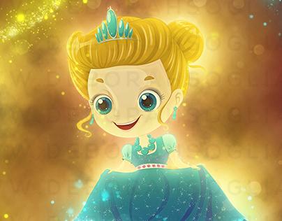 Princess sparkilng dress