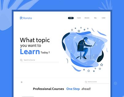 Roroto - E Learning Platform Website
