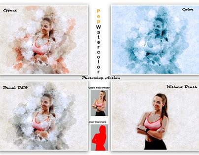 Pop Watercolor Photoshop Action