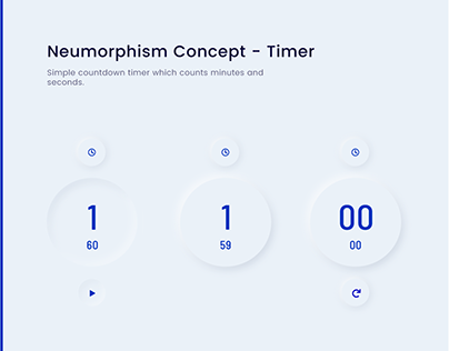 Neumorphism Concept - Timer