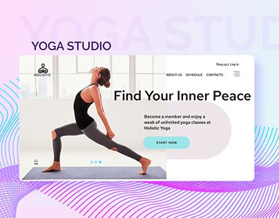 UX/UI Web Design for Yoga Studio