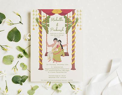 Wedding Invite   Mahathi and Prakaash