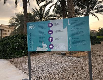 AUC Gardens Signage