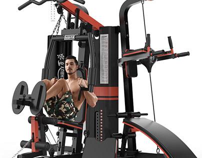Giàn tạ đa năng   Máy tập Gym Thể Thao Khởi Nguyên