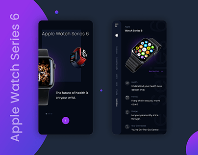 Apple Watch Series 6 UI Design