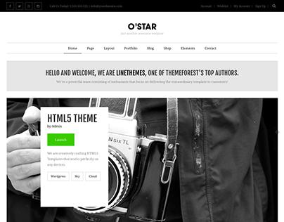 O'Star - An innovatively responsive HTML5 Template