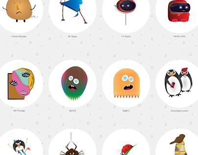Mascots by Krasowski