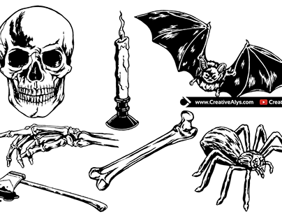 Horror Vector Elements