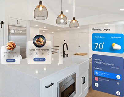 Smart Kitchen AR app UI elements