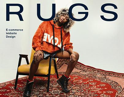 RUGS — E-commerce Website Design, 2019