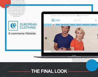 EUROPEAN CLOTHING E-COMMERCE WEBSITE