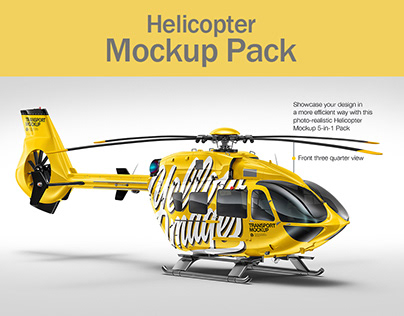 Helicopter Mockup Pack
