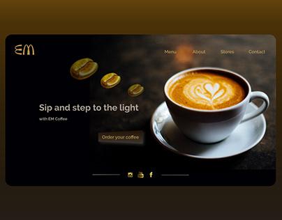 Coffee Shop web site UI Design