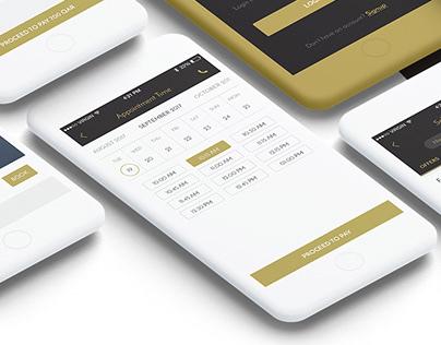 Salonera- salon aggregator app UI design