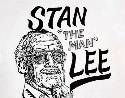 Stan Lee - Fan Art Illustration & Lettering