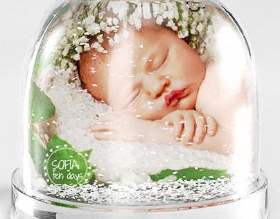 Illustrazione 3d - Palla di Neve Classica