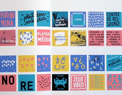 """Signage research for """"La Gaité Lyrique"""""""