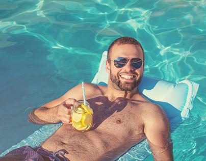 Summertime in pool