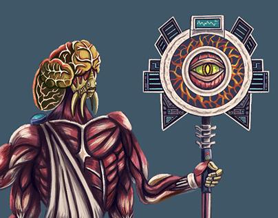 Space Alien Concept Art