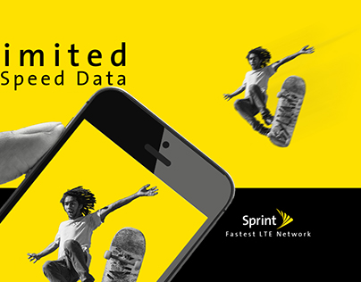 Sprint Ad Campaign   Offer Page and Moodboards