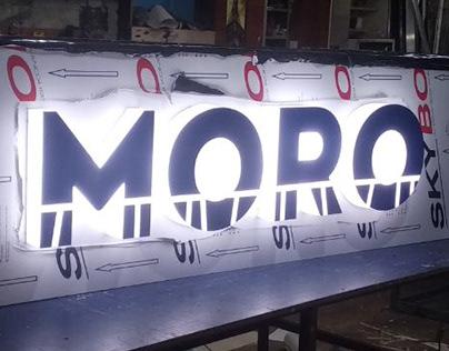 """Оформление фриза магазина """"MORO"""" в торговом центре"""