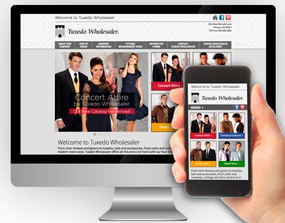 Tuxedo Wholesaler Website