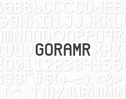 GORAMR TYPEFACE