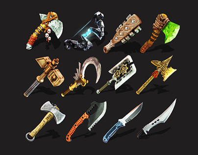 Weapons game icons